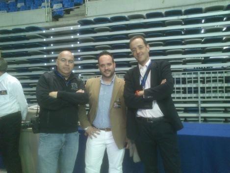 Con Javier Cebreros (TheHumanPhoto) y Antonio Del Águila (Ibermena)