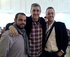 Oscar Lugo, Juanma López Iturriaga e Ignacio Conejo