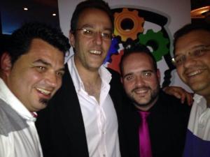 Selfie - Con Antonio del Águila, Pedro García Navarro y Rafael Orellana Osorio