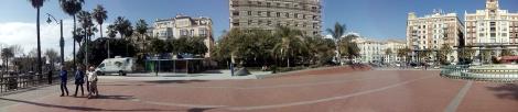 Inicio de la Ruta - Foto panorámica de la Plaza de la Marina