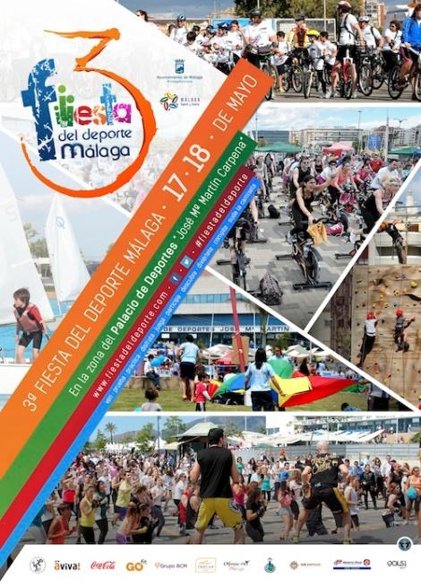 Cartel 3ª Fiesta del Deporte de Málaga